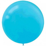 Latex Round 60cm Fashion Caribbean Blue Balloon | Amscan
