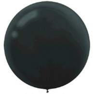 Latex Round 60cm Fashion Black Balloon | Amscan