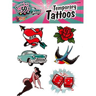Flirtin' with the 50's Temporary Tattoo's | Forum Novelties