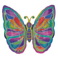 Foil Supershape Butterfly Holigraphic Balloon | Anagram