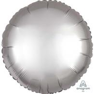Foil Round Satin Luxe Platinum Silver Balloon | Anagram