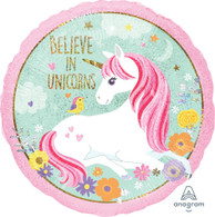 Foil Round Unicorn Magical Balloon | Anagram
