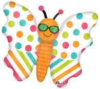 Foil Supershape Butterfly Cool & Bright Balloon | Anagram
