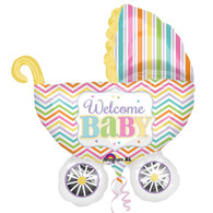 Foil Supershape Welcome Baby Pram Balloon | Anagram