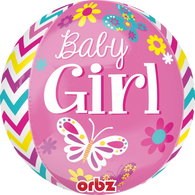 Orbz Baby Girl Pink Balloon | Anagram