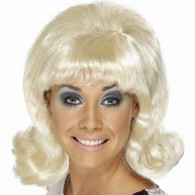 1960's Mod Flick Up Blonde Wig | Smiffy's