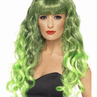 Siren Long Green Wig | Smiffy's