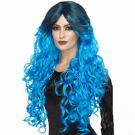 Gothic Glamour Electric Blue Wig | Smiffy's
