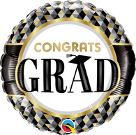 Foil Round Congrats Grad Balloon | Qualatex