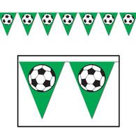 Soccer Ball Pennant Banner   Beistle