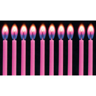 Colourflame Birthday Pink Candles | Alpen