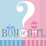 Gender Reveal Boy or Girl Snack Napkins | Creating Converting