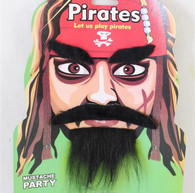 Pirate Beard Set Black   Trademart