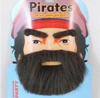 Pirate Bushy Beard Kit Black   Trademart