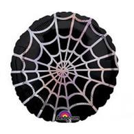 Foil Round Spiderweb Black & Silver | Anagram