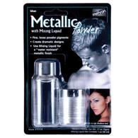 Metallic Powder Silver with Mixing Liquid | Mehron Makeup