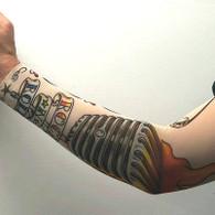 Tattoo Sleeve Arm - Rock n Roll Design | Interalia