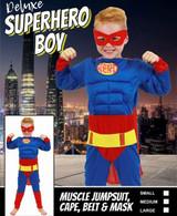 Deluxe Super Hero Boy   Cut Price Costumes
