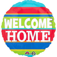 Welcome Home Foil Bright Stripes Balloon | Anagram