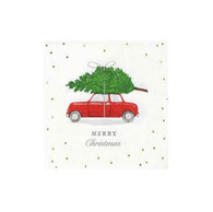 Christmas Botanical Berry Car Cocktail Napkins | Talking Tables