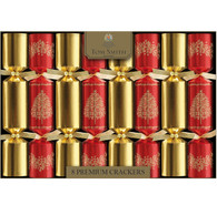 Christmas Red & Gold Tree Premium Crackers | Tom Smith