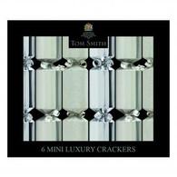 Christmas Silver Mini Luxury Crackers   Tom Smith