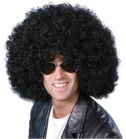 1970's Mega Huge Afro Black Wig | Smiffy's