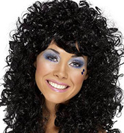 1980's Boogie Babe Black Wig | Smiffy's