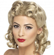 1940's Sweetheart Blonde Wig | Smiffy's