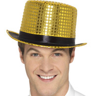 Gold Sequin Top Hat | Smiffy's