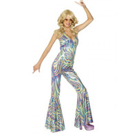 1970's Disco Dancing Queen Catsuit | Smiffy's