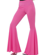 1970's Flared Womens Hot Pink Trousers | Smiffy's