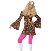 1960's CND Hippy Dress Costume Large | Smiffy's