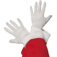 Christmas Santa Short White Gloves | Smiffy's