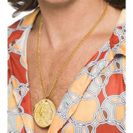 1970's Gold Medallion Necklace | Smiffy's