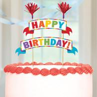 Cake Topper Bright Happy Birthday   Amscan