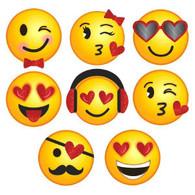 Valentine's Day Mini Glitter Emoji Cutouts | Amscan