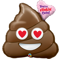 Valentine's Day You're Stinkin' Cute Poo Emoji Balloon | Qualatex