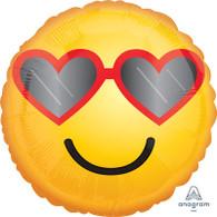 Foil Emoji Heart Sunglasses Balloon | Anagram