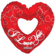 Foil Supershape Red Heart 'I Love You' Balloon | Kaleidoscope