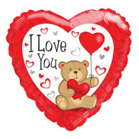 Foil Valentine's Day I Love You Teddy Heart Balloon | Kaleidoscope