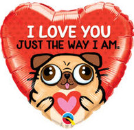 Foil I love You Just the Way I am Heart Balloon | Qualatex