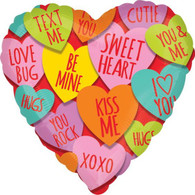 Foil Valentine's Day Candy Sweet Heart Balloon | Anagram