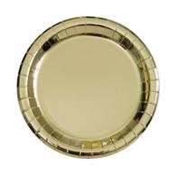Metallic Gold Foil Snack Plates   Unique