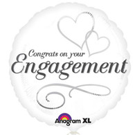 Foil Round Congrats on Your Engagement Balloon | Anagram