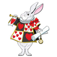 Alice in Wonderland White Rabbit Jointed Cutout | Beistle