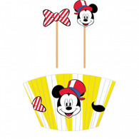 Mickey Mouse Vintage Carnival Cupcake Cases & Picks | Amscan