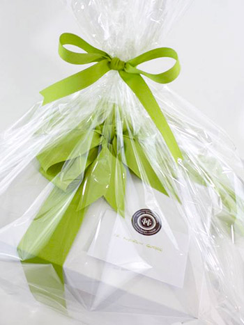 Close Up of Healthy Gourmet Gifts packaging