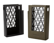 Beautiful Astell & Kern KANN CUBE Leather Cases available in Black and Olive Green at Hi-Fi Headphones Canada