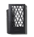 Black Dakota Leather from Italian and French origins Astell & Kern KANN CUBE Leather Case - Sleek, geometric design made for protection and ventilation of your KANN CUBE at Hi-Fi Headphones Canada